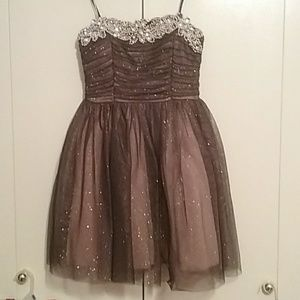 Strapless Homecoming Dress